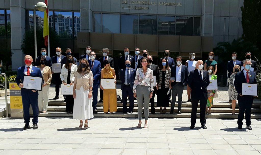 La ministra de Industria, Comercio y Turismo entrega los Premios Nacionales de Comercio Interior 2020